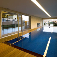 Windows in the Swimming Pool Room