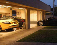 Large Garage filled with Exotic Cars